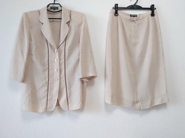ラピーヌブランシュ スカートスーツ サイズ11 M レディース美品  ベージュ