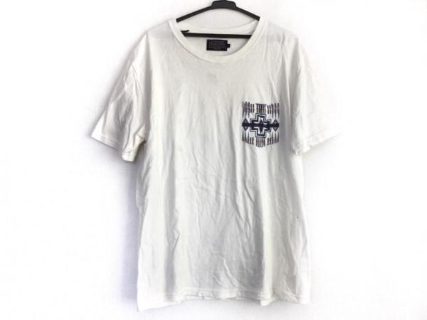 PENDLETON(ペンドルトン) 半袖Tシャツ サイズXL メンズ アイボリー×ネイビー×レッド