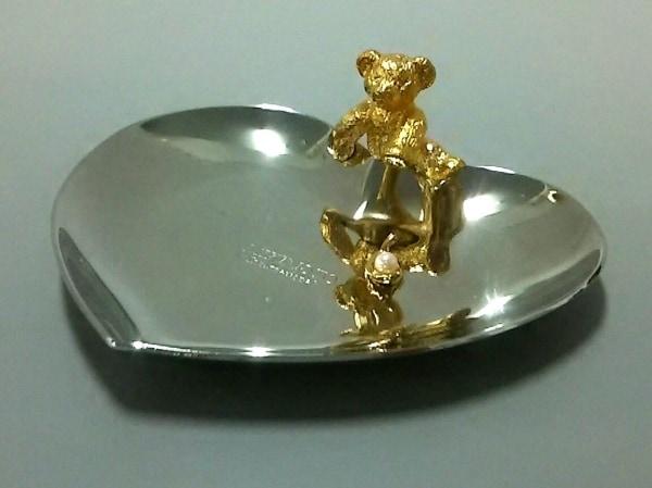 mikimoto(ミキモト) 小物美品  シルバー×ゴールド トレー/ハート/クマ 金属素材