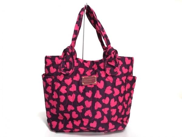 マークバイマークジェイコブス ハンドバッグ美品  - パープル×ピンク ナイロン