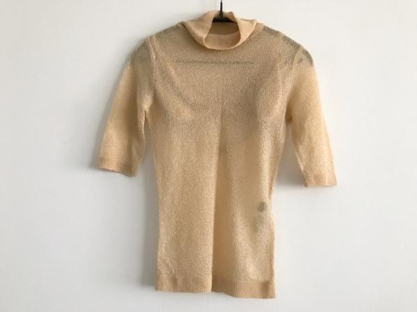 ノーベスパジオ 半袖セーター サイズM レディース美品  イエロー ブラジャー付き
