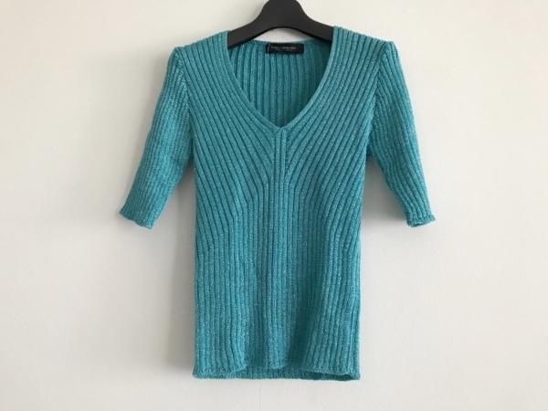 NOVESPAZIO(ノーベスパジオ) 半袖セーター サイズ38 M レディース美品  ブルー ラメ