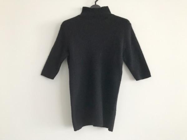 ノーベスパジオ 半袖セーター サイズ38 M レディース美品  黒 ハイネック/ラメ