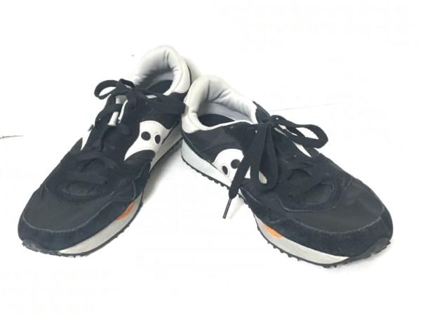 SAUCONY(サッカニー) スニーカー 42 メンズ 黒×白 化学繊維×スエード×レザー