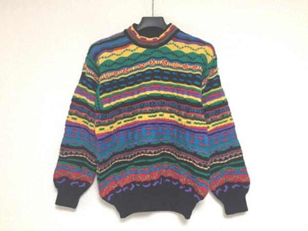COOGI/CUGGI(クージー) 長袖セーター サイズS メンズ 黒×レッド×マルチ