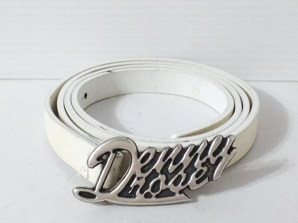 DENNY ROSE(デニーローズ) ベルト 白×シルバー レザー×金属素材