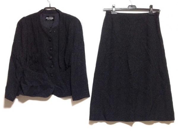 JUN ASHIDA(ジュンアシダ) スカートスーツ サイズ13 L レディース 黒 レース