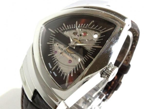 HAMILTON(ハミルトン) 腕時計 ベンチュラ H245150 メンズ ダークブラウン