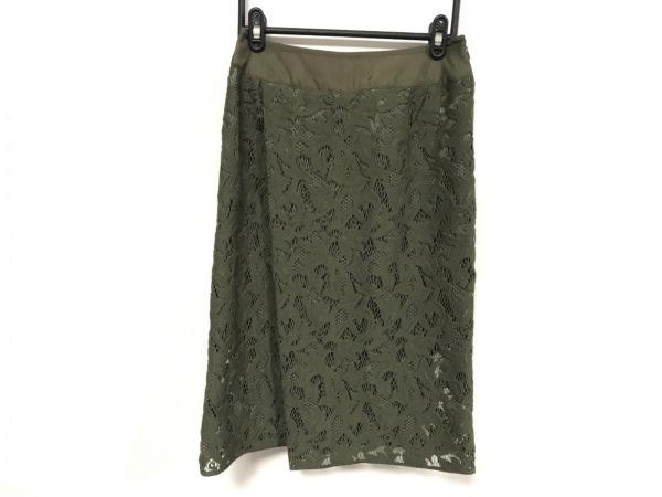 VOUS ETES(ヴゼット) スカート サイズ36 S レディース美品  カーキ レース