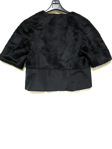 アレッサンドロデラクア ジャケット サイズ40 M レディース 黒 アルパカ