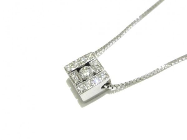 ダミアーニ ネックレス美品  ベルエポック スクエア K18WG×ダイヤモンド 13Pダイヤ
