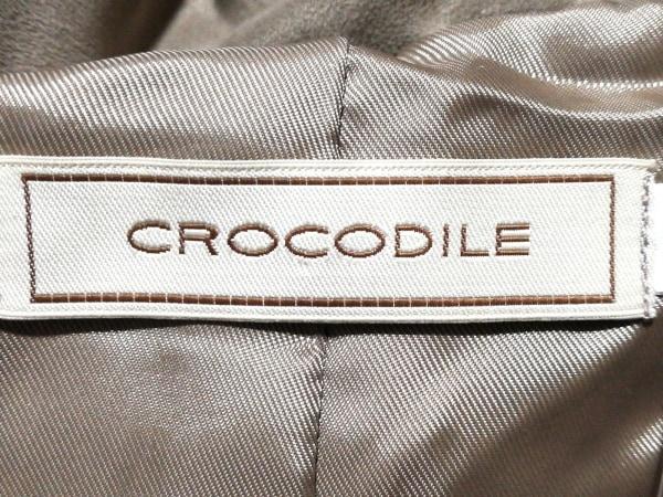 クロコダイル ダウンジャケット サイズM レディース美品  ライトブラウン 冬物