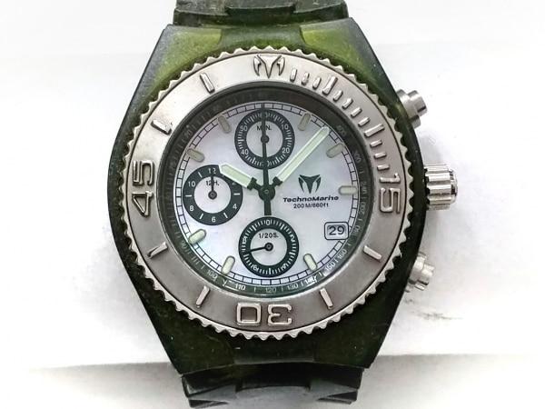 テクノマリーン 腕時計 CS-08 メンズ ラバーベルト/シェル文字盤 アイボリー