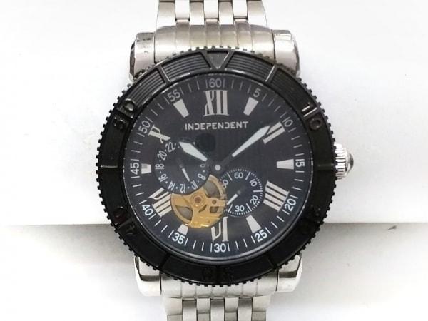 INDEPENDENT(インディペンデント) 腕時計 8227-003070-02 メンズ 裏スケ 黒