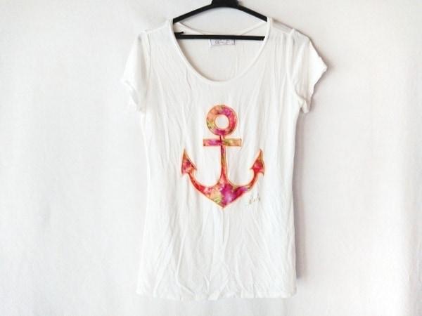 Rady(レディ) 半袖Tシャツ サイズF レディース美品  白×オレンジ アップリケ