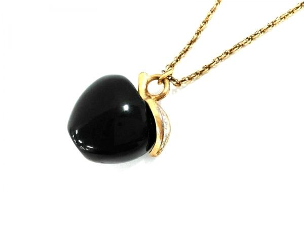 ケネスジェイレーン ネックレス 金属素材×プラスチック 黒×ゴールド