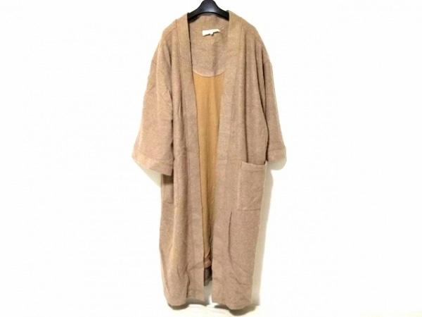 トゥデイフル コート サイズ36 S レディース美品  ブラウン ニット/ロング丈/春・秋物