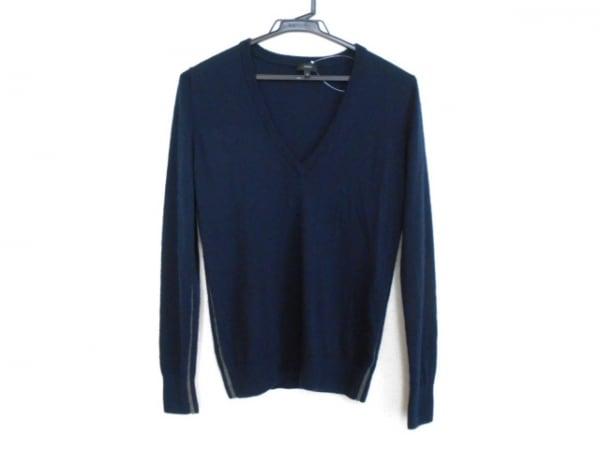 ジョセフ 長袖セーター サイズS レディース ネイビー×グレー カシミヤ/サイドライン