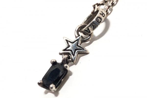 RoyalOrder(ロイヤルオーダー) ネックレス シルバー×カラーストーン 黒 スター