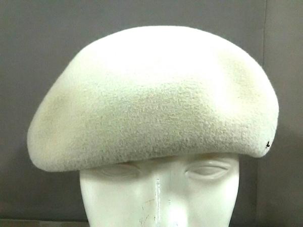 maxim(マキシン) 帽子新品同様  アイボリー 刺繍/スパンコール/ビーズ 兎毛