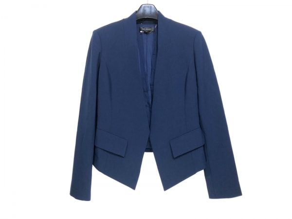 セントジョン ジャケット サイズ4 XL レディース ダークネイビー 襟なし/肩パッド