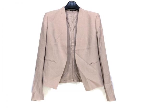 theory(セオリー) ジャケット サイズ4 S レディース ピンクベージュ 襟なし/肩パッド