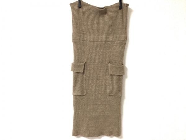 ドロシーズ スカート サイズ1 S レディース美品  ベージュ ニット/ウエストゴム