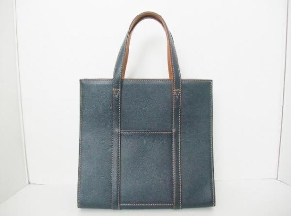 大峡製鞄(オオバセイホウ) ハンドバッグ ダークネイビー レザー