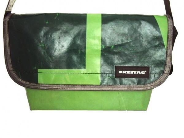FREITAG(フライターグ) ショルダーバッグ ライトグリーン×ダークグリーン×黒