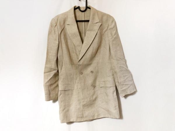 LANVIN(ランバン) スカートスーツ サイズ38 M レディース ベージュ La Collection/麻