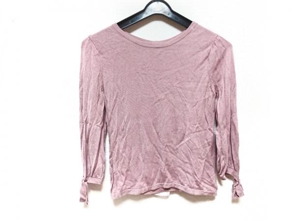 ギャラリービスコンティ 長袖セーター サイズ2 M レディース ピンク フリル
