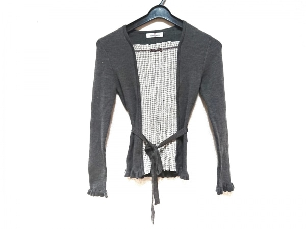 ギャラリービスコンティ 長袖セーター サイズ2 M レディース 千鳥格子/ラメ
