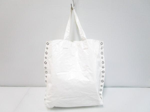 tricot COMMEdesGARCONS(トリココムデギャルソン) トートバッグ 白 PVC(塩化ビニール)