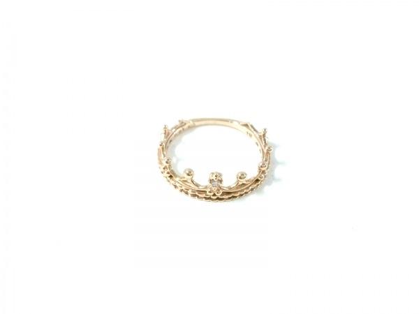 ノジェス リング美品  K10×ダイヤモンド 0.01カラット/ クラウン/ピンキーリング