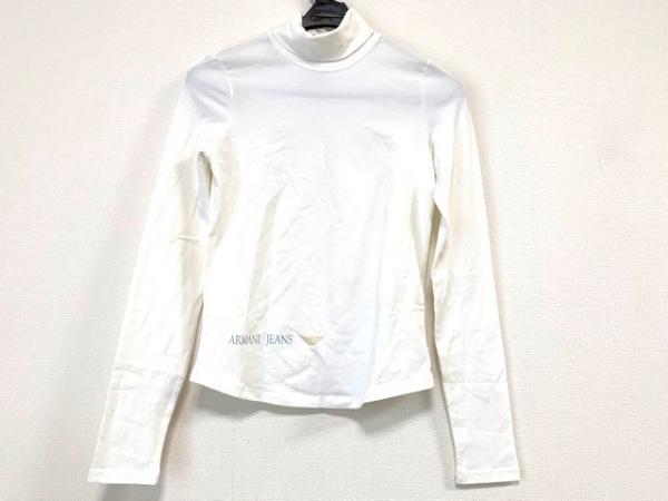 アルマーニジーンズ 長袖カットソー サイズ38 S レディース美品  白 タートルネック