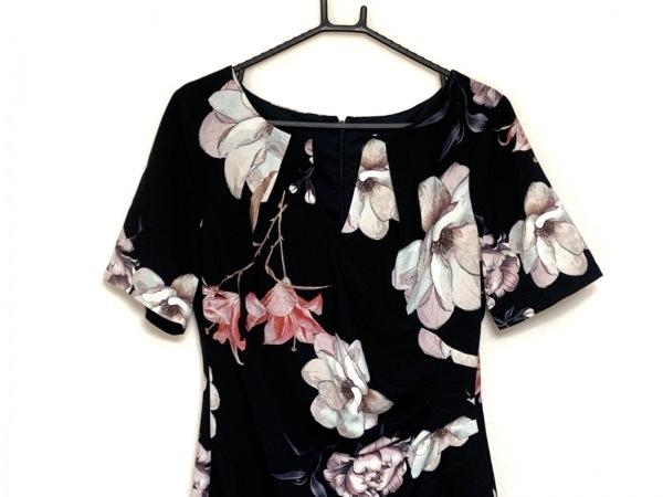 アドリアーナパペル ワンピース サイズ44 L レディース 黒×ピンク×マルチ 花柄