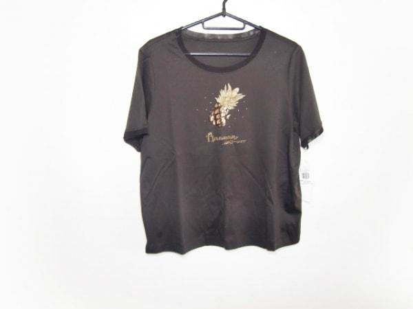 Leilian(レリアン) 半袖Tシャツ サイズ13+ S レディース美品  ダークブラウン 刺繍