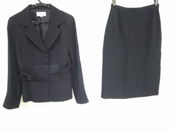 HANAE MORI(ハナエモリ) スカートスーツ サイズ38 M レディース 黒
