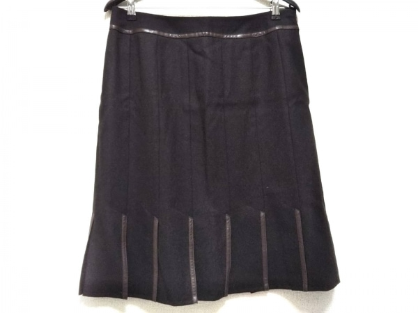 Leilian(レリアン) スカート サイズ15 L レディース美品  ダークブラウン プリーツ