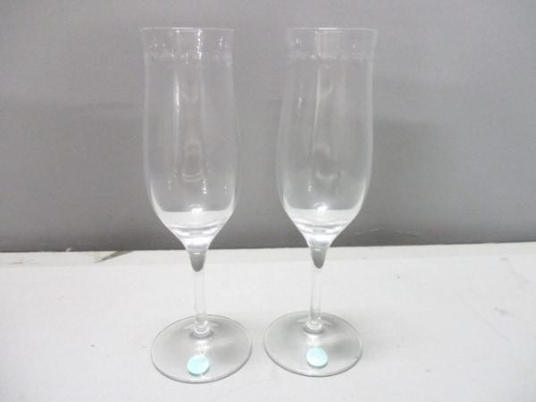 ティファニー ペアグラス新品同様  スウィング クリア シャンパングラス ガラス