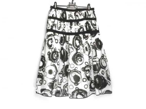 GIVENCHY(ジバンシー) ロングスカート サイズ42 L レディース 白×黒