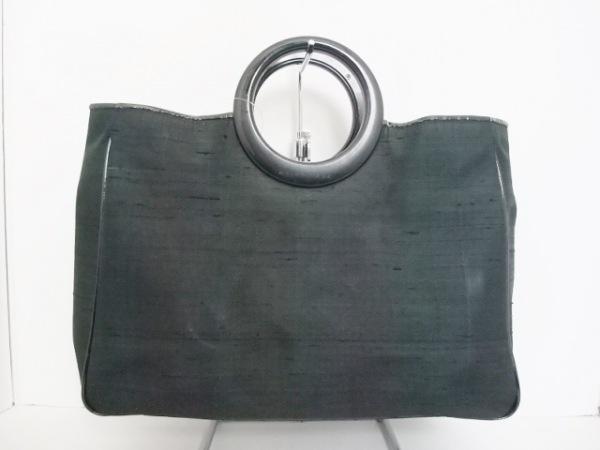 BALENCIAGA BB(バレンシアガライセンス) トートバッグ 黒 化学繊維×プラスチック
