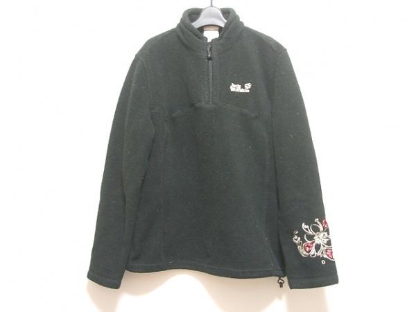 ジャックウルフスキン ブルゾン サイズXL メンズ 黒×白×レッド 春・秋物/刺繍