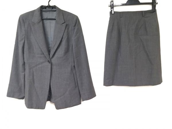 コムサデモード スカートスーツ サイズM レディース グレー 肩パッド