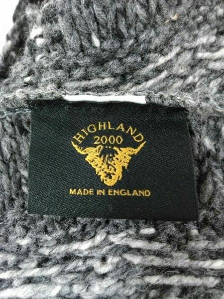 ハイランド 2000 マフラー美品  グレー×ブラウン×マルチ スヌード ウール