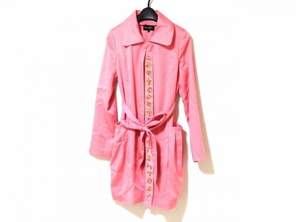 QUEENS COURT(クイーンズコート) コート サイズ2 M レディース美品  ピンク