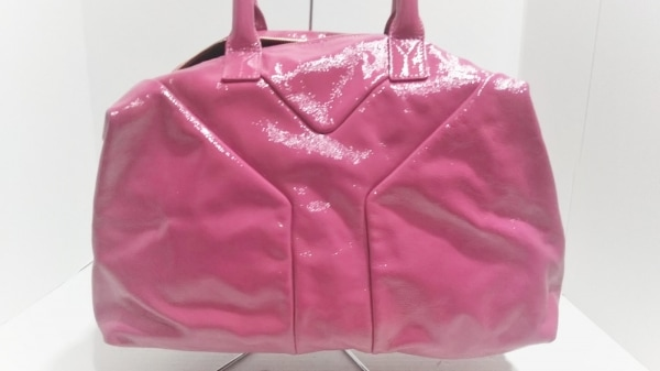 イヴサンローランリヴゴーシュ ハンドバッグ美品  イージー 208314 ピンク