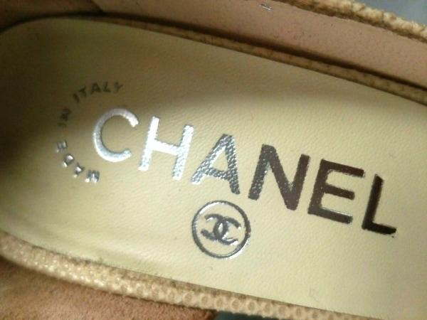 CHANEL(シャネル) パンプス 36 レディース G26704 アイボリー×黒 リザード×レザー