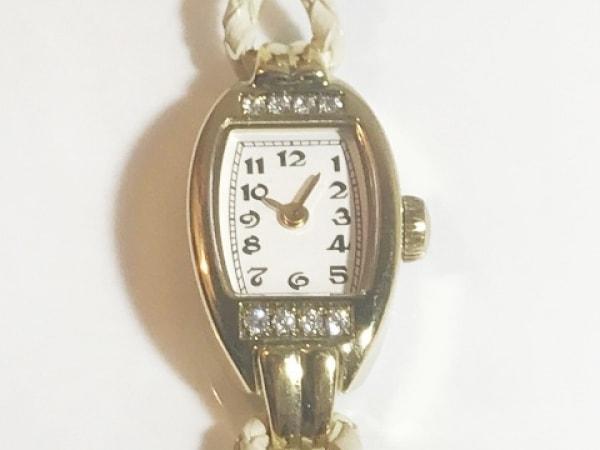 induna(インデュナ) 腕時計 021 レディース ラインストーン 白