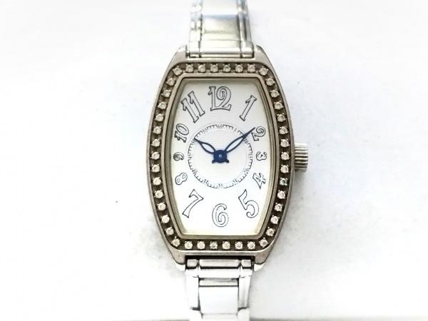 ナラカミ メッサジオ 腕時計 - レディース ラインストーンベゼル アイボリー